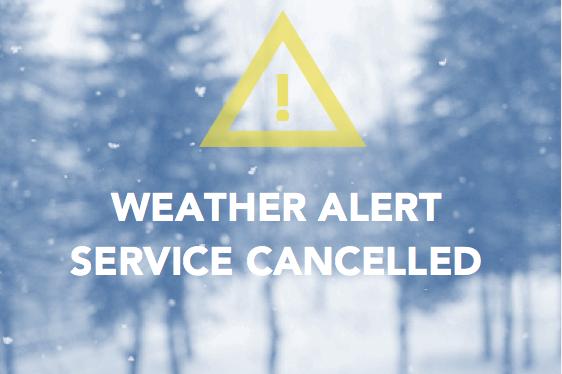 Jan 13 Service Canceled